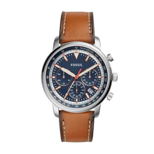 Fossil Goodwin Chronograph Light Brown Leather Watch FS5414