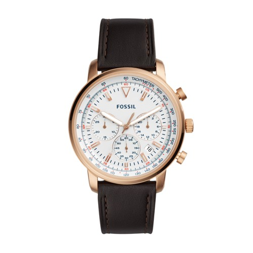 Fossil Goodwin Chronograph Brown Leather Watch FS5415