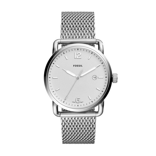 Fossil The Commuter Three-Hand Date Stainless Steel Watch FS5418