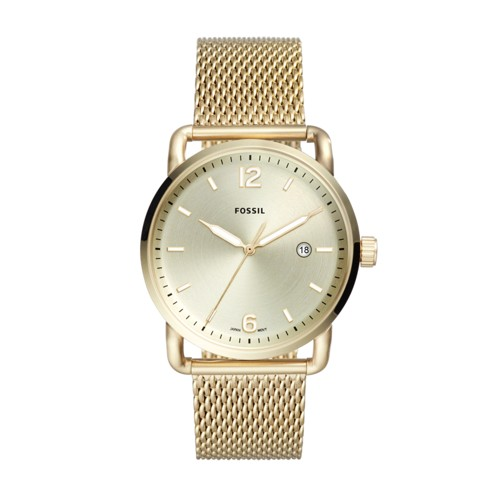 Fossil The Commuter Three-Hand Date Gold-Tone Stainless Steel Watch FS5420