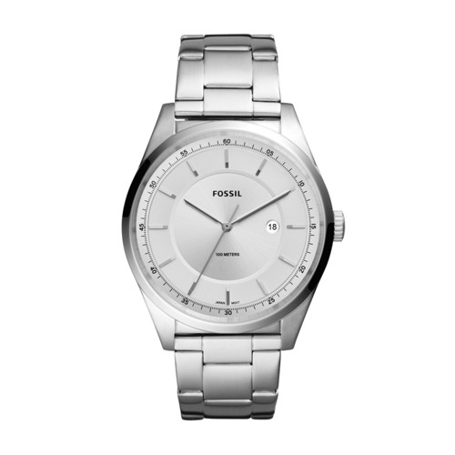 Fossil Mathis Three-Hand Date Stainless Steel Watch FS5424