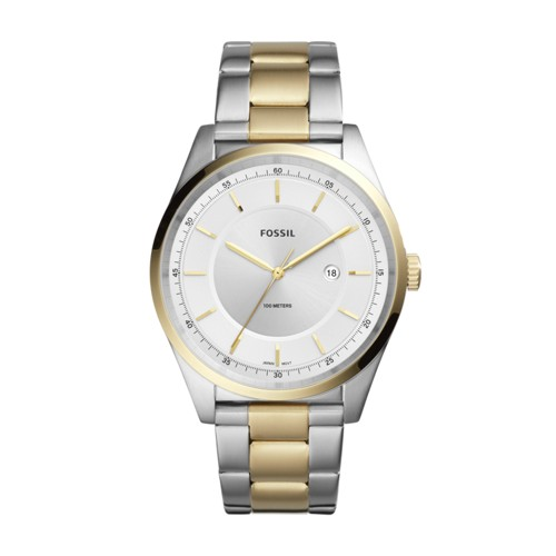 Fossil Mathis Three-Hand Date Two-Tone Stainless Steel Watch FS5426
