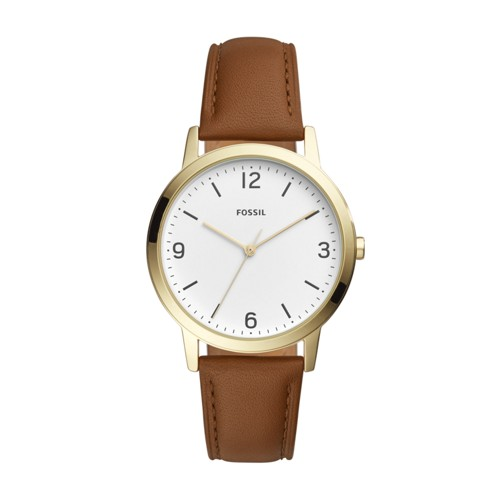 Fossil Blake Three-Hand Light Brown Leather Watch FS5427