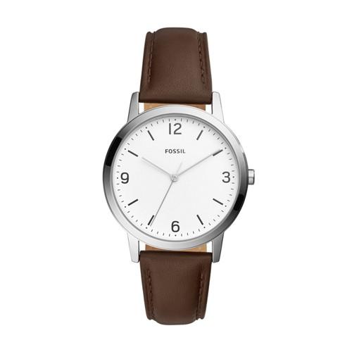 Fossil Blake Three-Hand Brown Leather Watch FS5428