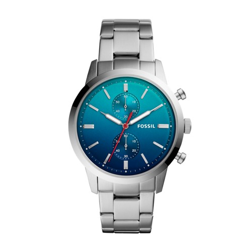 Fossil Townsman 44mm Chronograph Stainless Steel Watch FS5434