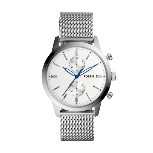 Fossil Townsman 44mm Chronograph Stainless Steel Watch FS5435