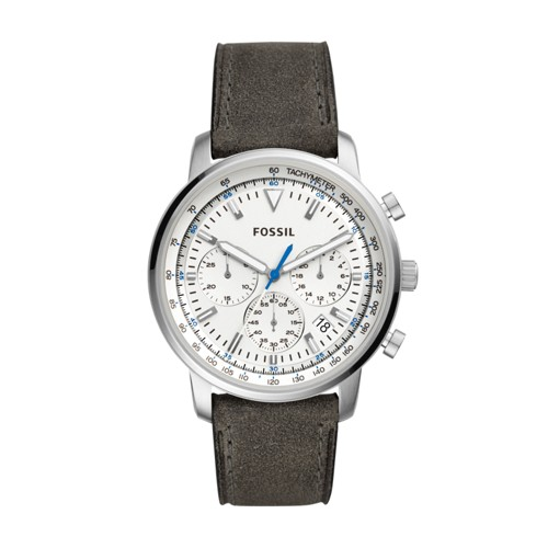 Fossil Goodwin Chronograph Gray Leather Watch FS5438