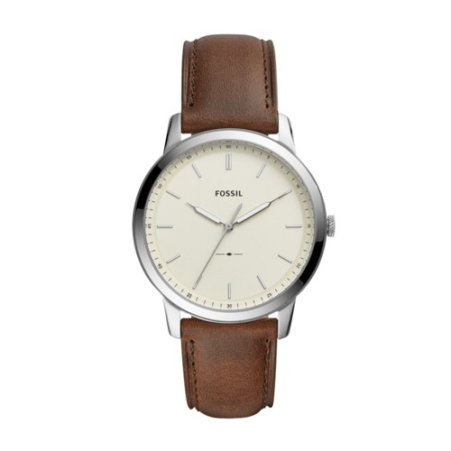 The Minimalist Three-Hand Brown Leather Watch FS5439
