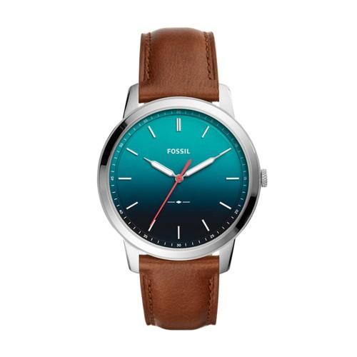 Fossil The Minimalist Three-Hand Brown Leather Watch FS5440