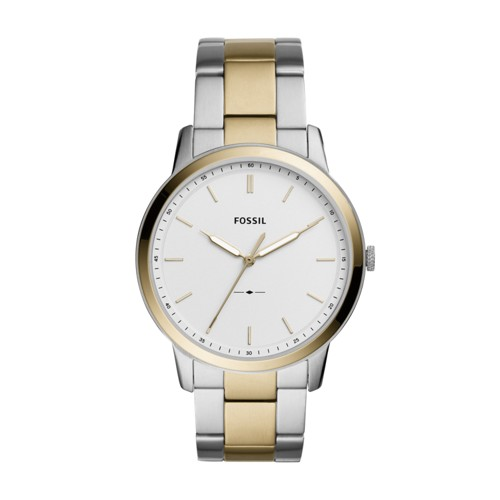 Fossil The Minimalist Three-Hand Two-Tone Stainless Steel Watch FS5441
