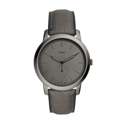 Fossil The Minimalist Two-Hand Gray Leather Watch FS5445