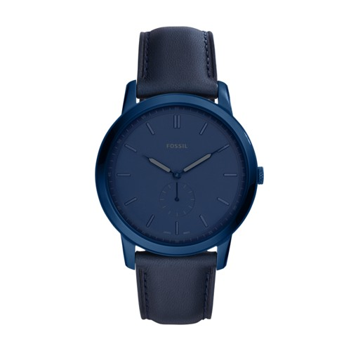 Fossil The Minimalist Two-Hand Indigo Blue Leather Watch FS5448