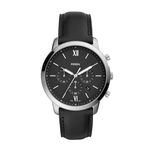 Neutra Chronograph Black Leather Watch FS5452