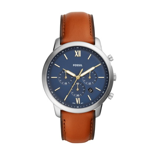 Fossil Neutra Chronograph Brown Leather Watch FS5453