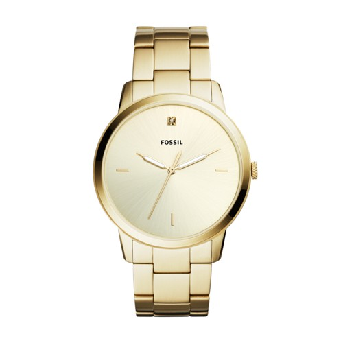 779d403efc4 Fossil The Minimalist Carbon Series Three-Hand Gold-Tone Stainless Steel  Watch FS5457
