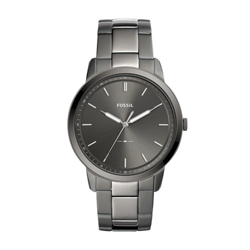 Fossil The Minimalist Three-Hand Smoke Stainless Steel Watch FS5459