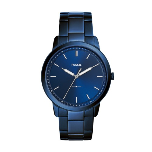 Fossil The Minimalist Three-Hand Ocean Blue Stainless Steel Watch FS5461