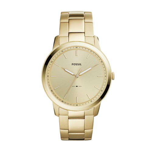 Fossil The Minimalist Three-Hand Gold-Tone Stainless Steel Watch FS5462