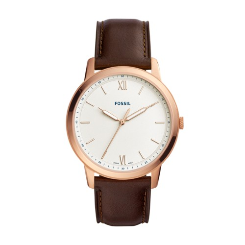The Minimalist Three-Hand Java Leather Watch FS5463