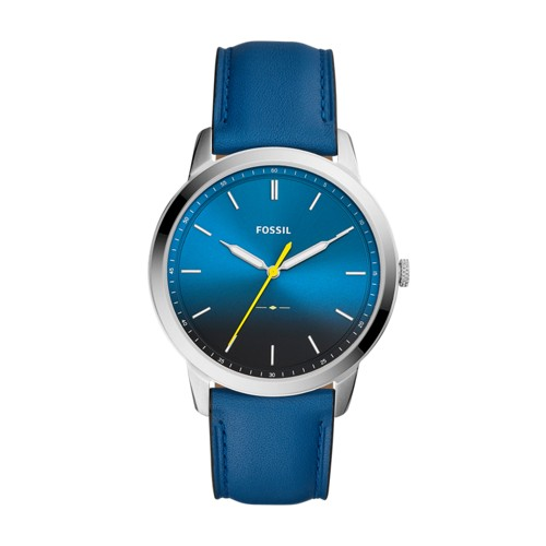 Fossil The Minimalist Three-Hand Blue Leather Watch FS5465