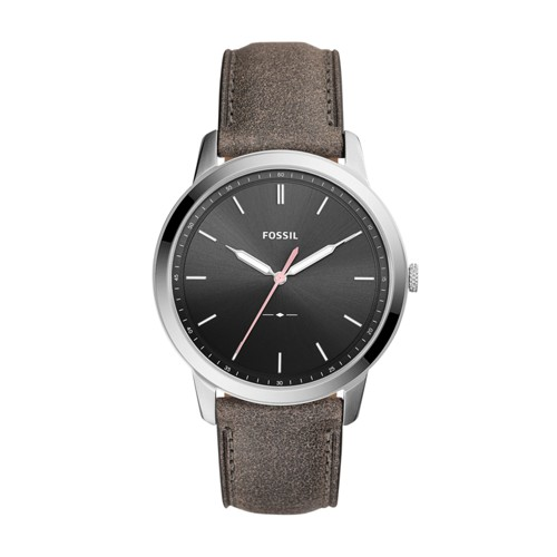 Fossil The Minimalist Three-Hand Gray Leather Watch FS5467