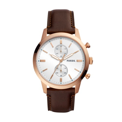 Fossil Townsman Chronograph Java Leather Watch FS5468