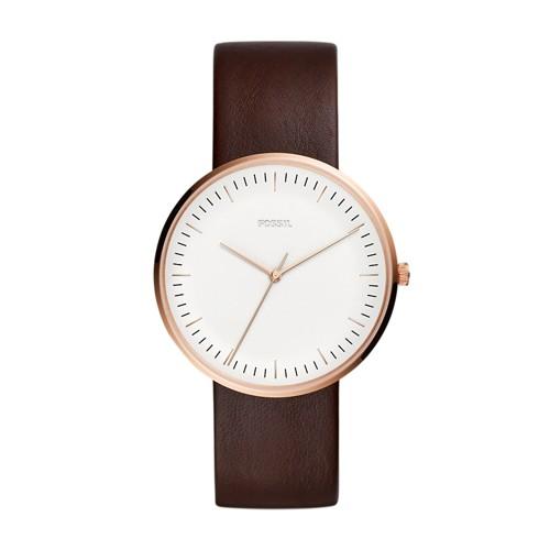 Fossil Essentialist Three-Hand Java Leather Watch FS5472