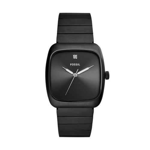 Fossil Rutherford Carbon Series Black Stainless Steel Watch FS5477