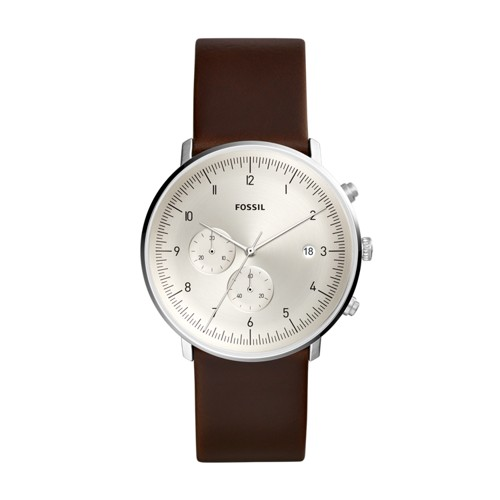 fossil Chase Timer Chronograph Brown Leather Watch FS5488