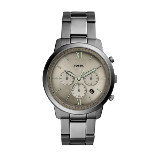 fossil Neutra Chronograph Smoke Stainless Steel Watch FS5492