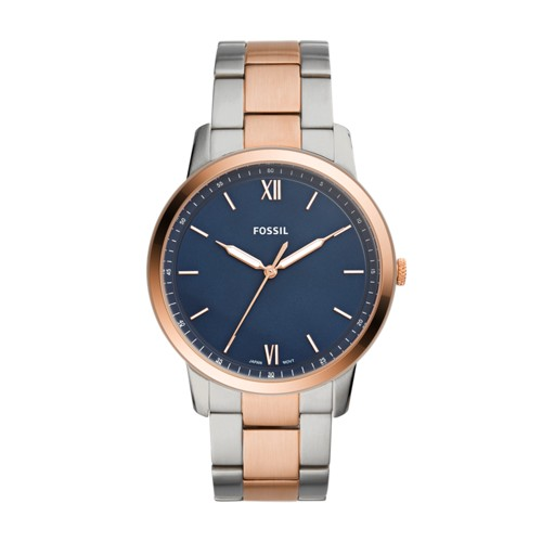 fossil The Minimalist Three-Hand Two-Tone Stainless Steel Watch FS5498
