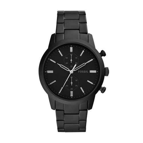 fossil Townsman Chronograph Black Stainless Steel Watch FS5502