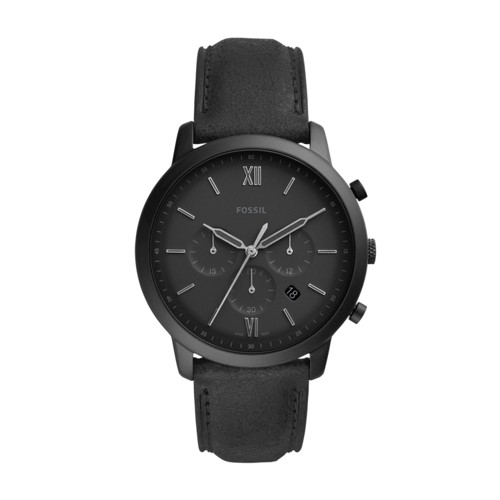 fossil Neutra Chronograph Black Leather Watch FS5503