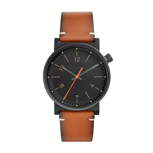 fossil Barstow Three-Hand Luggage Leather Watch FS5507
