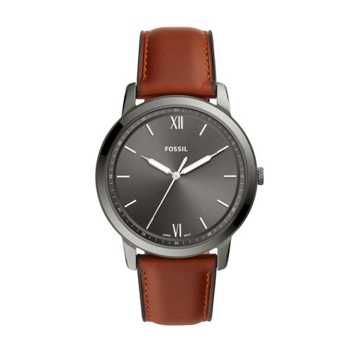 fossil The Minimalist Three-Hand Amber Leather Watch FS5513