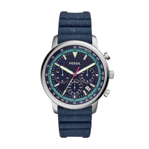 fossil Goodwin Chronograph Navy Silicone Watch FS5519