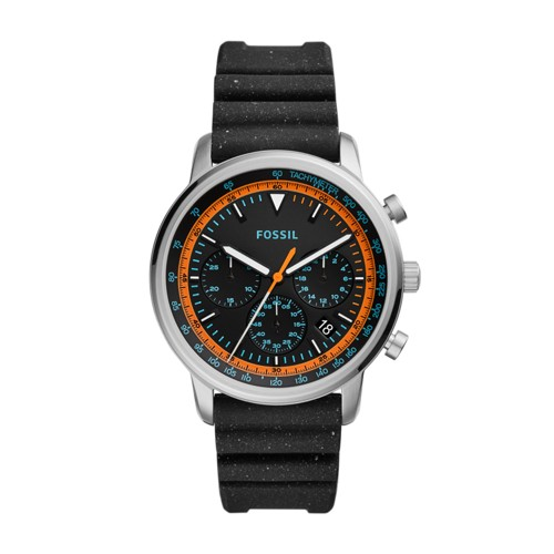 fossil Goodwin Chronograph Black Silicone Watch FS5520