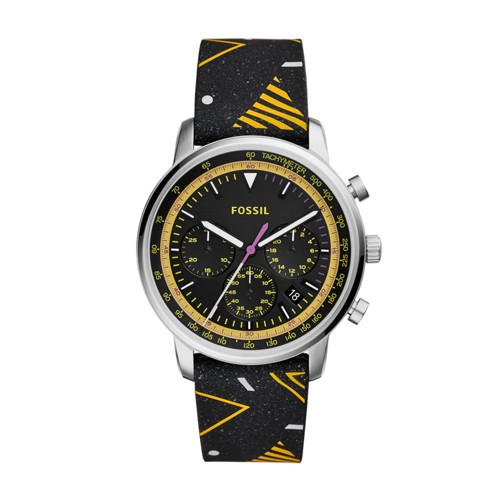 fossil Goodwin Chronograph Black Silicone Watch FS5521