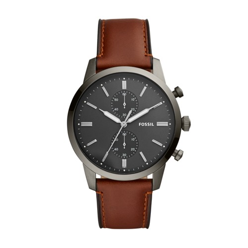 fossil Townsman Chronograph Amber Leather Watch FS5522