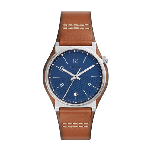 fossil Barstow Three-Hand Luggage Leather Watch FS5524