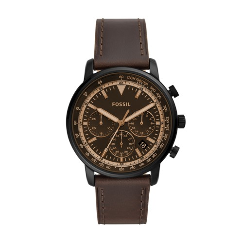 fossil Goodwin Chronograph Brown Leather Watch FS5529