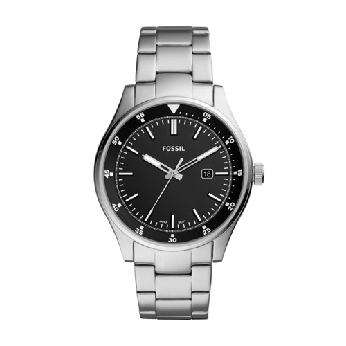 fossil Belmar Three-Hand Date Stainless Steel Watch FS5530