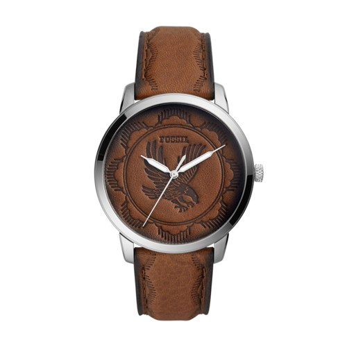 fossil Neutra Three-Hand Brown Leather Watch FS5543