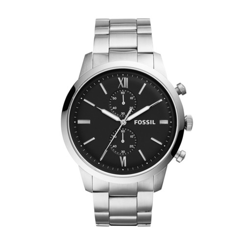 Townsman Chronograph Silver-Tone Stainless Steel Watch FS5546