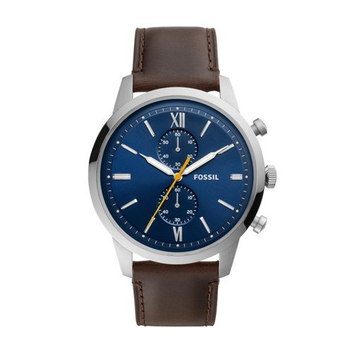 fossil Townsman Chronograph Brown Leather Watch FS5549