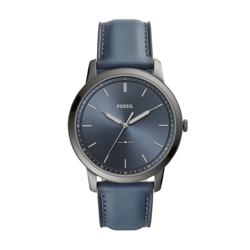 Fossil The Minimalist Three-Hand Denim Leather Watch  jewelry