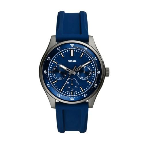 Belmar Multifunction Navy Silicone Watch FS5577