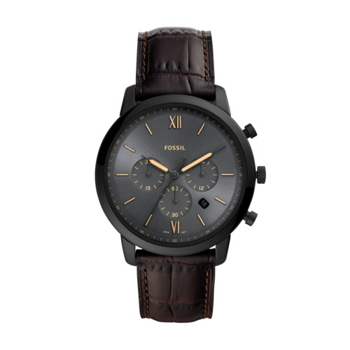 fossil Neutra Chronograph Brown Leather Watch FS5579
