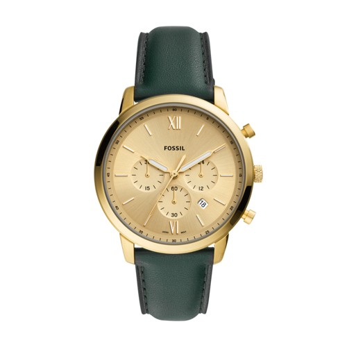 fossil Neutra Chronograph Dark Green Leather Watch FS5580