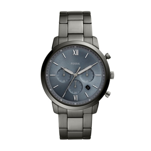 fossil Neutra Chronograph Smoke Stainless Steel Watch FS5581